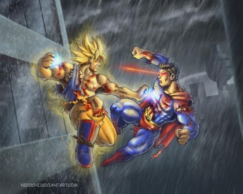 Goku_vs_superman_by_nicochi